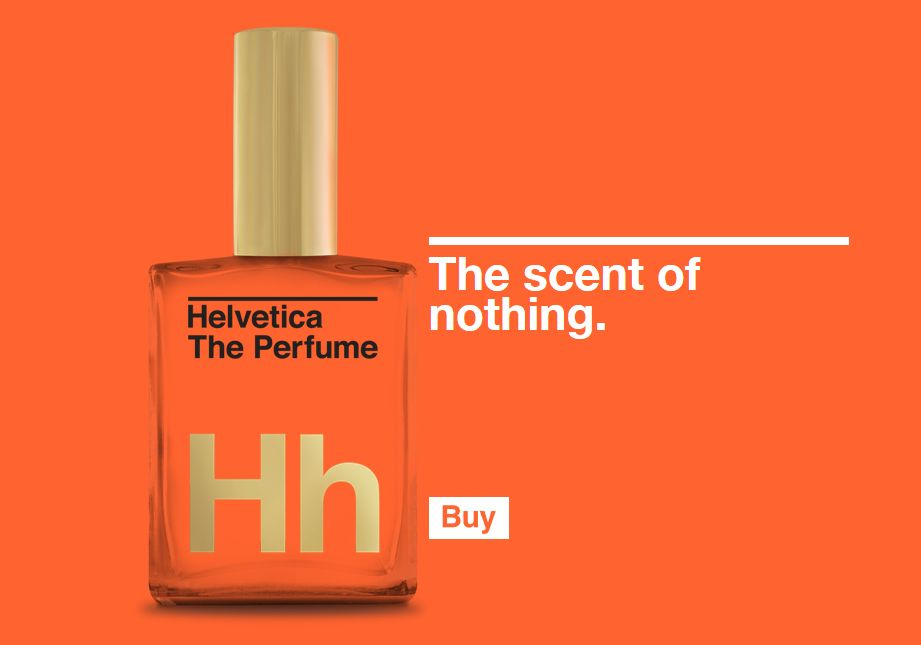 Helvetica perfume: the scent of nothing